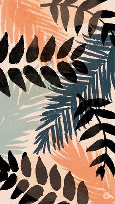 digital wallpapers with a tropical view Ed Wallpaper, Iphone Background Wallpaper, Aesthetic Iphone Wallpaper, Aesthetic Wallpapers, Plant Wallpaper, Iphone Wallpaper Tropical, Fuchs Illustration, Stoff Design, Cute Patterns Wallpaper