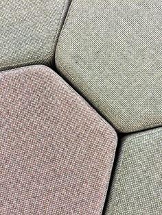 Hex stools in @Camira Fabrics #YourWorkspace