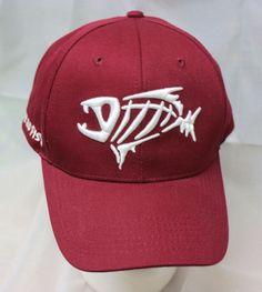G-Loomis Fear No Fish Hat Baseball Cap Maroon Adjustable Velcro Back Embroidered #gloomis #BaseballCap