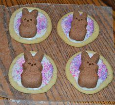 Easter Bunny Cookies:  www.hezzi-dsbooksandcooks.com