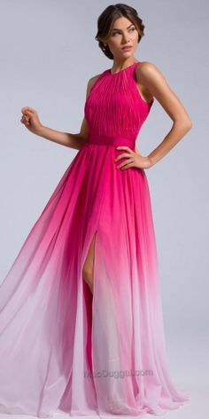 Ombre Ruched Prom Dress by Mac Duggal #edressme