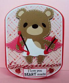 teddy bear cupid made with teddy bear parade cricut cartridge crafted ...