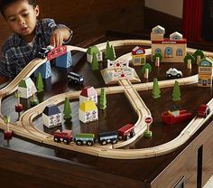 Town and Country Wooden Train Set #pbkids