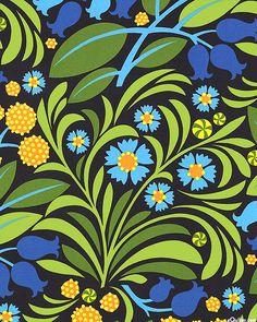 Jane Sassaman - Gregory's Garden - Blossoms & Berries - Quilt Fabrics from www.eQuilter.com