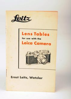 Leica Leitz Booklet Lens Tables for use with the Leica by MagsandI