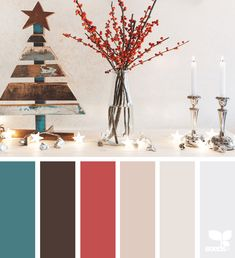 today's inspiration image for { color holiday } is by . thank you, Beatriz, for another incredible image share! Christmas Palette, Christmas Colour Schemes, Christmas Colors, Christmas Decorations, Pallette, Colour Pallete, Color Schemes, Color Palettes, Paint Palettes