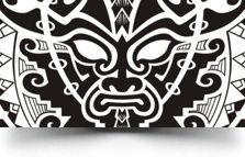 perfect tribal mask tattoo design