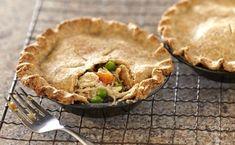 Turkey Pot Pie with Wheat Germ Crust