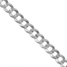 """JewelStop 925 Sterling Silver Rhodium Plated 5.2 mm Curb Chain Necklace, Lobster Claw Clasp - 24"""". Ravishing and stunning Curb Chain necklace brought to you by Jewelstop. The curb chain necklace has been crafted in sterling silver stamped and marked. The necklace is silver in color. The curb chain necklace has an unlimited 1 year warranty and 30 days money back guarantee. The product dimensions are: 24"""" long and 5.2mm in width."""