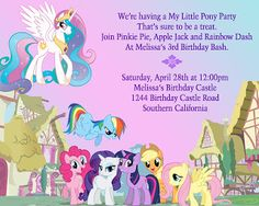 Click here to download a free printable my little pony birthday my little pony birthday party center peice ideas filmwisefo Image collections