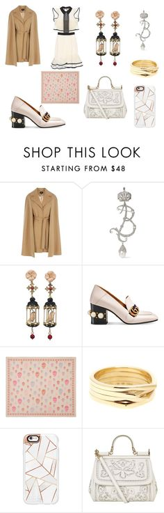 """Untitled #10"" by jiyun1222 on Polyvore featuring Coast, Balenciaga, Of Rare Origin, Gucci, Alexander McQueen, Repossi, Casetify, Dolce&Gabbana and self-portrait"