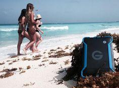 #Blue #Girls #Beach #Sand @gtechnology #Storage #HDD #SolidState #WaterProof
