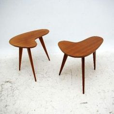 1950s boomerang side tables from retrospective interiors