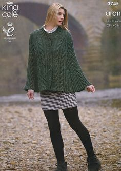 Knitting Pattern Cape and Sweater in King Cole Fashion Aran (3745) #KingCole