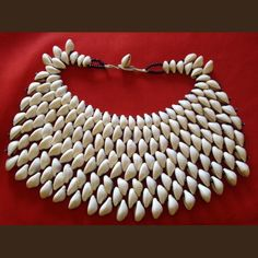 "African Mossi Necklace ""Starfish"" of cowries from Burkina Faso"