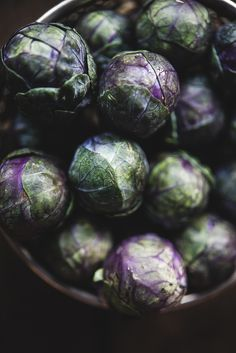 Purple Brussels Sprouts | Gourmantine