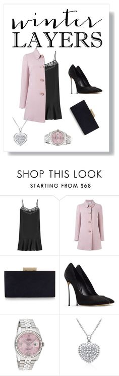 """""""Untitled #113"""" by meraza on Polyvore featuring Carven, RED Valentino, Monsoon, Casadei, Rolex, women's clothing, women's fashion, women, female and woman"""
