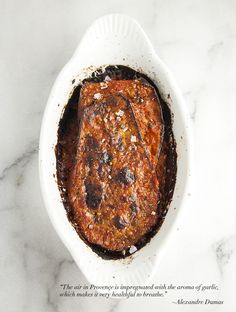 Eggplant Gratin Provençal - to make vegan use a vegan cheese or omit, you could top with a nut and breadcrumb mixture instead.