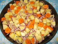 Aripioare de pui cu cartofi si morcovi la cuptor - Bunătăți din bucătăria Gicuței Paella, Ethnic Recipes, Food, Essen, Yemek, Meals