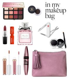 """""""in my MAKEUP bag"""" by nitakadir on Polyvore featuring beauty, BeckSöndergaard, MAC Cosmetics, NYX, Chanel, Victorinox Swiss Army, Maybelline, Christian Dior and Sephora Collection"""