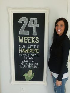 Love this... chalkboard every week to document your pregnancy