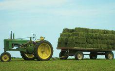 JD hay time.Looks like John Deere Model B