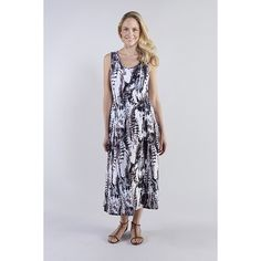 Reflections Jersey Printed Maxi Dress (320905) | Ideal World
