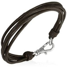 Multi Strand Dark Brown Leather Men's Bracelet Men's Jewellery #mensfashion #mensjewellery