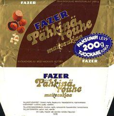 Fazer Pähkinärouhe-maitosuklaa 70/80-luvulta.