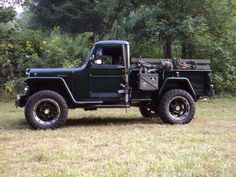 Willys Jeep pick up truck Jeep Pickup, Jeep 4x4, Jeep Truck, Custom Trucks, Cool Trucks, Pickup Trucks, Willys Wagon, Jeep Willys, Vintage Jeep