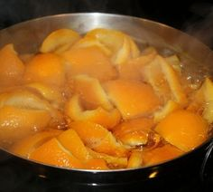 If you want your house to smell heavenly, boil some orange peels with a 1/2 teaspoon of cinnamon on Medium heat. ~ I do this come Fall and everyone loves it – an old Southern trick @ Home Designs