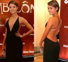 Sophie Charlotte foi vestida para matar à festa da novela 'Babilônia', no Rio, em 7 de março de 2015. A atriz apostou no decote profundo do vestido da grife mineira Printing para o evento