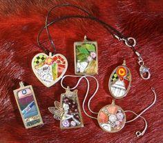 Variety of handmade mosaic jewelry