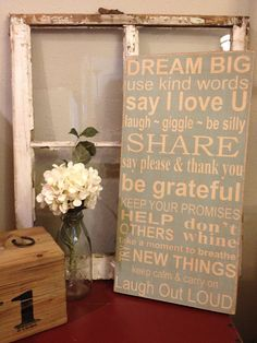 Family Rules Subway Art Dream Big Typography Word by kspeddler, $55.00