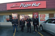 Walking billboards activated to promote the grand opening of Pizza Hut store opening in Campbell River, BC.
