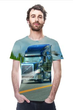 Road Warrior Trucker All-over Printed Tees