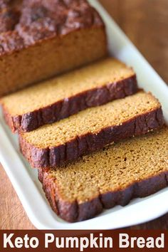 Incredibly moist and flavorful paleo pumpkin bread is perfect for breakfast, or as a healthy snack. Paleo Pumpkin Bread, Pumpkin Loaf, Pumpkin Recipes, No Bread Diet, Keto Bread, Yeast Bread, Almond Flour Recipes, Bread Recipes, Coconut Flour