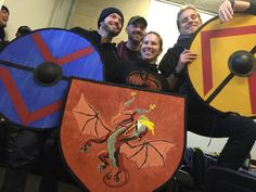 "German medieval band ""Feuerschwanz"" with their new shields ;-)"