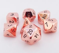 Metal Dice (Copper Hue) RPG role playing game dice
