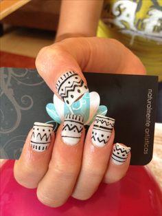 Nails art, acrylic nails, tribal nails