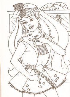 miss missy paper dolls barbie coloring pages part 2 - Barbie Coloring Page