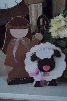 The Good Shepherd, wood craft idea with a shepherd and his little sheep. Want extra information? Click the picture. Bible School Crafts, Sunday School Crafts, Bible Crafts, Preschool Crafts, Easter Crafts, Classroom Crafts, Primitive Wood Crafts, Rustic Crafts, Wooden Crafts
