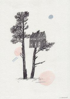 Treehouse by Lizzy Stewart, via Flickr
