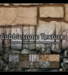 Free Texture Pack for Commercial Use - Cobblestone Brick Texture, Photoshop, Texture Packs, Article Design, Packing, Cubs, Brushes, Commercial, Articles