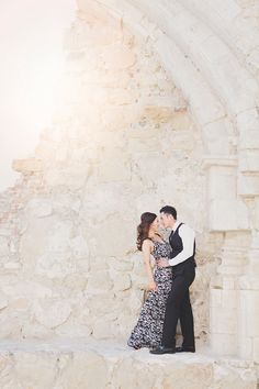 san juan capistrano mission engagement photos