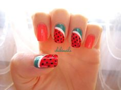 Watermelon nails inspired by Make My Day. Watermelon nails has always been my to-do design ever since I started off nail art (that was like&...