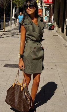 awesome military style dress and Louis Vuitton Neverfull bag Take A Look at louis vuitton handbags on sale or louis vuitton handbag prices then CLICK Visit link above for more options Louis Vuitton Neverfull Mm, Louis Vuitton Handbags, Lv Handbags, Neverfull Gm, Fashion Now, Fashion Dresses, Womens Fashion, Fashion Styles, Cheap Fashion
