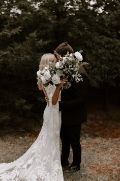 An intimate moment shared between these Oklahoma newlyweds featuring an outdoor wedding setting and . Outdoor Wedding Dress, How To Dress For A Wedding, Elegant Wedding Dress, Backyard Wedding Dresses, Boho Wedding Bouquet, Rustic Wedding Photos, Outdoor Wedding Photography, Wedding Details, Oklahoma Wedding