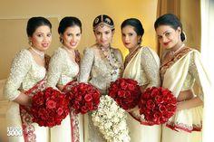 Bridesmaid Saree, Brides And Bridesmaids, Sri Lankan Bride, Srilankan Wedding, Budget Wedding, Wedding Ideas, Bridal Photography, Red Wedding, Get Dressed