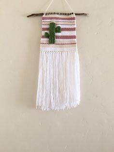 hand woven wall hanging / striped cactus by TheLittleAvocado
